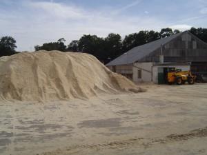 Obr. 1 Surová pilina - odpad ze zpracování dřeva