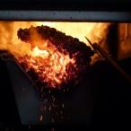 Pelety hoří v kotli