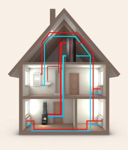 Vytápění domu interiérovými kamny