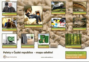 Mapa odvětví dřevěných pelet v ČR